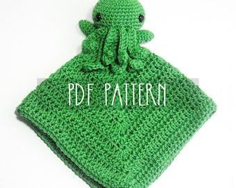 PDF PATTERN - EN - Crochet pattern for amigurumi - Cthulhu Octopus Lovey - ooak