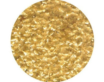 Metallic Gold Edible Glitter for Decorating Cakes and Cupcakes, Edible Gold Glitter for decorating party foods - .25 oz jar
