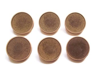 6 buttons round acrylic gold tone 18 mm / top quality