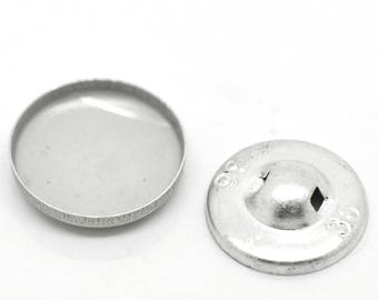 10 buttons covering two pieces aluminum 21 mm