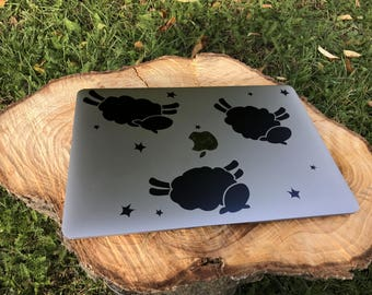 Cute Jumping Sheep Decal Sticker, Laptop Skin, Mac, Decals, Sheeps, Adorable, Funny, Gift Ideas, Gift for her, Macbook Decal Sticker