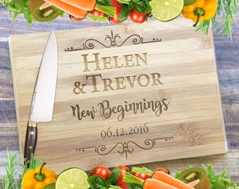New Beginnings - Personalised Engraved Bamboo Chopping Board