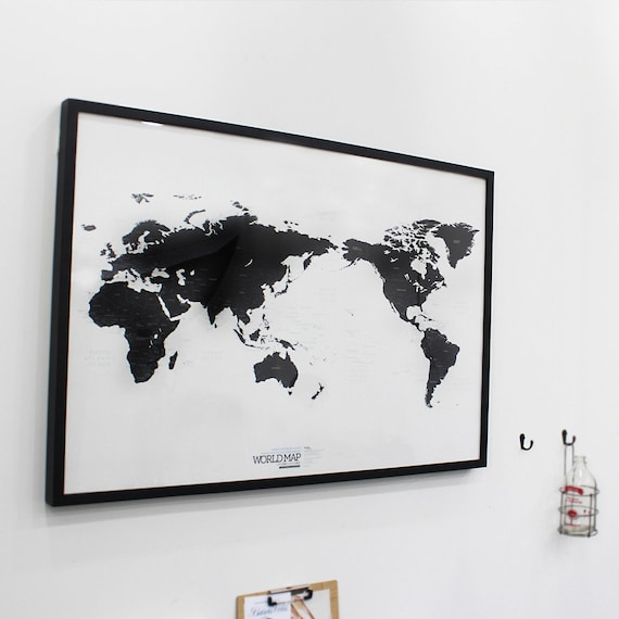 Black and white world map gumiabroncs Image collections
