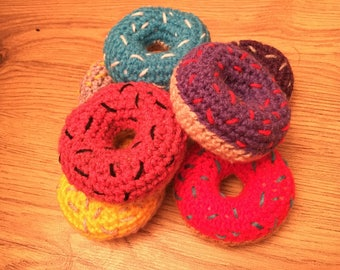 Crochet pincushion. Doughnut