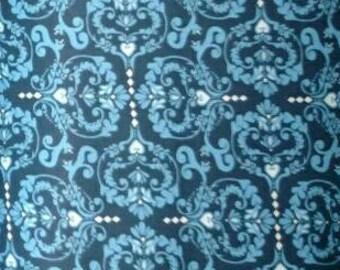 Sale Valori Wells Novella Cotton Sateen Heart De Flur Indigo SAVW024 Heavy Fabric Textile HTF. More sales available. 8 Yards Left 1st image