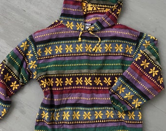 Vintage Hippie Pullover Oversized Colorful