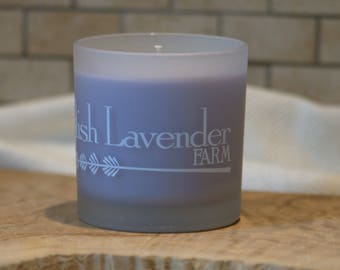 Lavender Essential Oil Soy Wax Candle in Frosted Glass