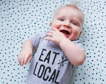 Baby Foodie Bodysuit - Eat Local - Ready to Ship