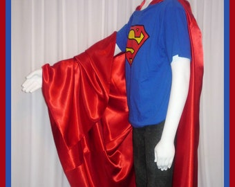 Royal Blue Satin Superman Style Cape Adult size custom made jynlIoc