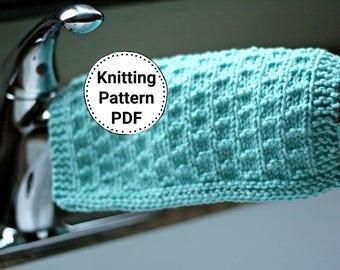 KNITTING PATTERN   Dishcloth Pattern   Knit Dishcloth Pattern   Stepping Stones