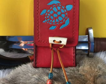 Custom leather Kalimba case. Made to order to fit your Kalimba