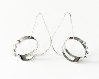 Connected sterling silver earrings, made-to-order