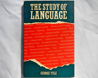 The Study of Language by George Yule Vintage 1988 Book