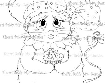 INSTANT DOWNLOAD digitale Digi Stamps Big Eye Big hoofd poppen nieuwe Bestie Scan0002 mijn Besties door Sherri Baldy
