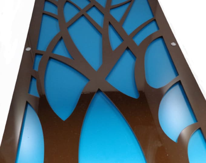 Branch Acrylic and Recycled Aluminum in brown and teal