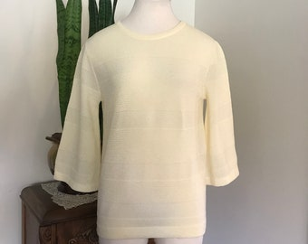 Vintage sweater, medium / large Vintage 1960's Exmoor Skimmer Dimmer Pullover Sweater , Bell Sleeve Pullover Sweater , Lightweight sweater
