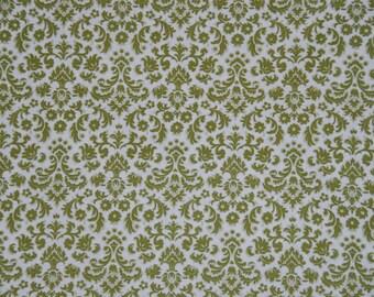 SALE - Marcus Brothers fabric Bleeker Street GREEN PRINT