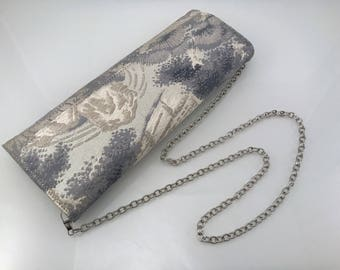 Obi evening clutch bag, japanese evening bag, kimono clutch, wedding purse, bridal clutch bag, AnninaDesigns