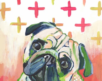 Mr. Pug Fine Art Print - Dog Portrait - Day 142 Makewells365