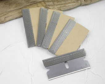 4 Single Edged blades for crafters to cut, chop, slice, dice, scrape, and trim any clay, wood, or plastic