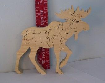 Moose Wild Animal Puzzle American Hardwood