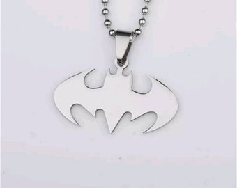Brand New Stainless Steel Batman Pendant and Necklace.