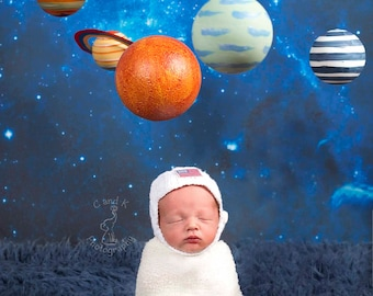 Space Digital Backdrop, Newborn Digital Backdrop