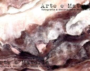 Conchiglia viola. Fotografia macro originale digitale. Foto natura, astratta.  Conchiglia rosa e viola, per casa moderna, regalo matrimonio.