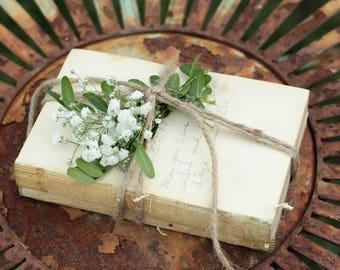 Farmhouse Decor Rustic Country - Mini Unbound Books - Farmhouse Decor - Mini Stack of Vintage Books