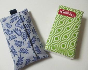 Tissue Case/Blue Leaf