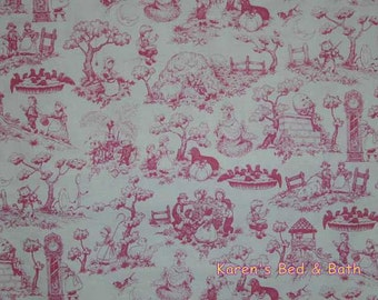 Mother Goose Fairytale Fabric Story Book Fabric By Yard HY Nursery Rhymes Pink Fairytales Toile Fabric Cotton Quilting Fabric t5/12