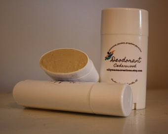 All-natural Deodorant available with or without baking soda - Aluminum, paraben, propylene glycol free!
