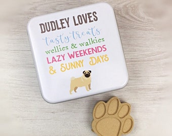 Personalised Dog Treat Tin - Keepsake - Gift Idea