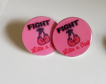 Fight like a girl! Breast Cancer pins