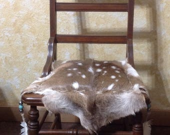 Axis Deer Hide Chair, Accent Chair, Animal Print, Animal Hide, Feather  Accent