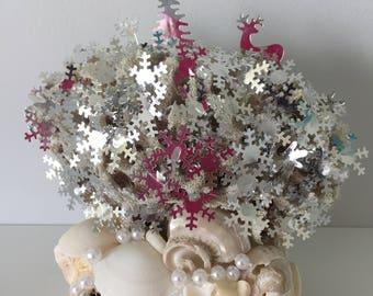 Statue sea shells sea sponge coral soft, boho, coastal