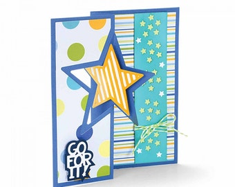 Sizzix Framelits Die Set 16PK - Card, Star Flip-its by Stephanie Barnard 661565