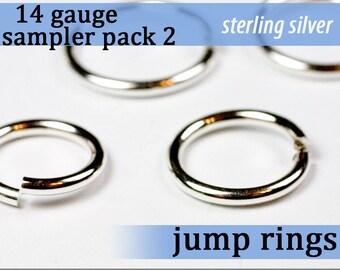 10 pcs 14g sterling sampler pack 2 jump rings 14 gauge jumprings 14gsamp2 925 sterling jewelry rings findings
