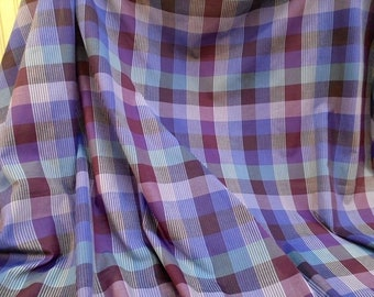Purple Plaid Fabric Shirting Cloth Woven Fashion Material