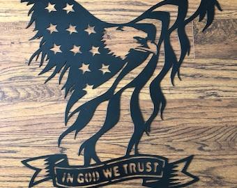 Eagle Metal Sign