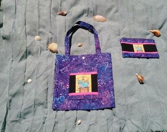 Book Bag for Book Lovers,Penguin Book Bag,Wallet for Money,Floral Bag,Tote Bag for Girls,Tote Bag for Females,Tote Bag for Teachers (COMBO)