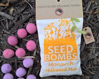12 Milkweed Seed Bombs for Monarch Butterflies