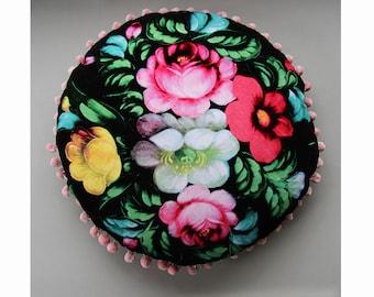 Special Offer! Vintage Floral Velvet Cushion - 25% Off!