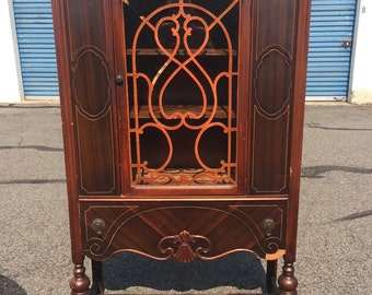 Vintage Jacobean China Hutch