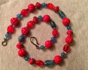 Summer Poppy Necklace