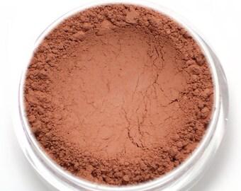 """Matte Coral Blush - """"Paradise"""" (coral pink blush Net Wt 4.5g) - Vegan natural blush for light to medium skin"""