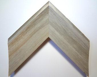 """Rustic Wood Custom Frame, White Wash, 2 7/8"""" Wide"""