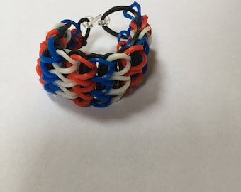 Red, White and Blue holiday bracelet