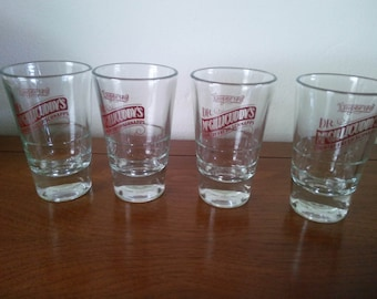 Vintage Dr. McGillicuddy's Shot Glasses - Shot Glasses  - Set of Four Shot Glasses - McGillicuddy's Shot Glasses - Schnapps Glasses