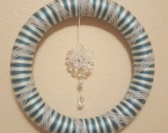 Snowflake Yarn Wreath